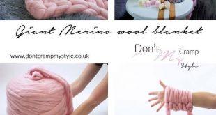 DIY giant merino wool chunky blanket throw tutorial More