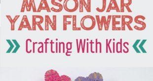 Mason Jar Yarn Flowers