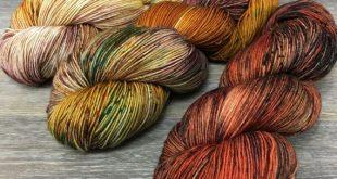 Autumn Dreams - Three Skein Shawl or Sock Kit, Hand Dyed Variegated Sock or Fingering Weight Yarn, Superwash Merino Nylon, SOCKROCK Base