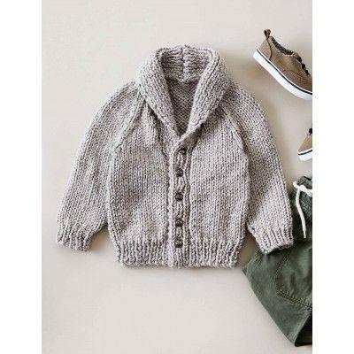 Bernat Shawl Collar Cardigan Free Beginner Baby's Knit ...
