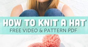 How to Knit a Hat On Straight Needles (Tutorial