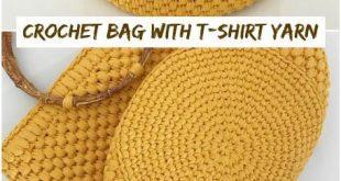 How To Crochet Bag With T-shirt Yarn - Crochetopedia