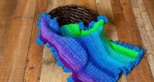 Crochet Baby Blanket DIY KIT - Small (26 x 32 in) - Hand Dyed Yarn, Printed Pattern, and Crochet Hook Provided - Gender Neutral Baby Gift