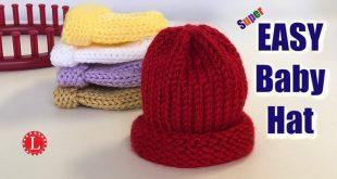 LOOK KNIT Newborn Hat - No Holes | 1 Strand of Yarn | Large Gauge Loom - YouTube