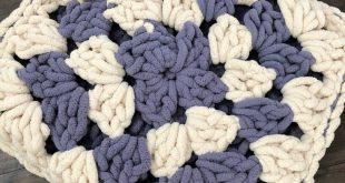 Pattern: Giant Granny Square cushion