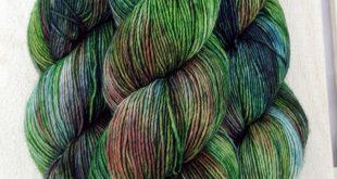 Sadie Sock HT 100g Hand dyed yarn Superwash merino wool Single ply 400 yds: 20...