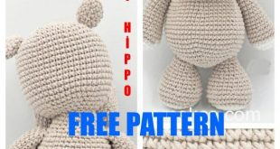 Amigurumi Cute Hippopotamus Free Crochet Pattern - Amigurumi Patterns