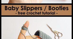Baby Slippers / Booties - kostenlose Häkelanleitung