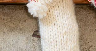 Chunky Knit Christmas Stocking Pattern