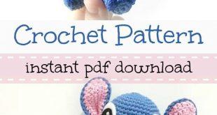 Disney's Stitch from Lilo and Stitch amigurumi crochet pattern. #DisneyCrochetPa...