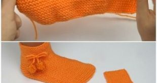 Easy To Make Slipper Socks - To Crochet Or To Knit