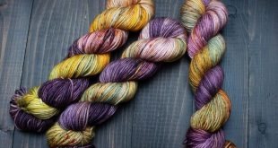 Fauna - DK Weight, Hand Dyed Yarn, Merino Wool, Speckled Yarn, Mustard Yellow, Golden Ochre, Sage Green, Lilac, Purple