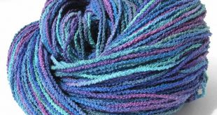 Hand Dyed Cotton Yarn Textured Nubby Sport Weight Yarn Blue Green Water Colors Pastel Soothing Shades 329 Yards Unique DIY - Blue Horizon