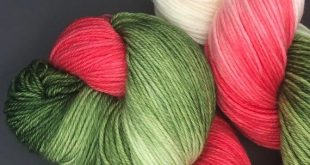 Hand Dyed Yarn | Multicolored | Tonal | Superwash Merino | Worsted Fingering Sock| December at Mom's