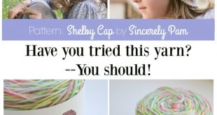 Hand-dyed yarn by The Sheepish Hooker and crochet hat pattern by Sincerely Pam s...