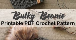 Make a cozy hat. bulky hat crochet patterns- winter hat crochet pattern- amorecr...