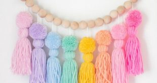 Pastel Rainbow Pom Pom Tassel Garland. Nursery and Kids Room Decor. Party Decorations.Rainbow...