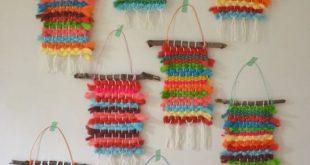 Regenbogenwebereien mit gefärbtem Koolaid-Garn - #camp #camping #gefärbtem #Ko...