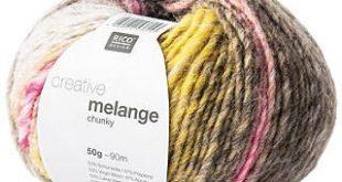 Rico Creative Melange Chunky Yarn, 50g, Light Blue
