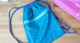 Show Off Saturday: the Easy Peasy Drawstring Backpack... with a pocket!