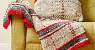 Tartan Throw and Cushion Kit in Deramores Studio Chunky